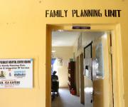A view of the entrance to the family planning unit, after a make-over repair by NURHI at centre Igboro health facility in Ilorin in Nigeria's central state of Kwara, November 6, 2012.