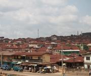 A view of a street in Agbongbon community in Ibadan, South-west, Nigeria, November 7, 2012.