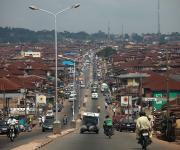 A view of a street in Oniyanrin community in Ibadan, South-west, Nigeria, November 7, 2012.