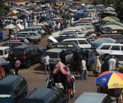 A view of the Kawo motor park in Nigeria's northern city of Kaduna, November  12, 2012.