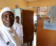 Service providers stand in the family planning unit before a make-over of the unit at Oniyanrin primary health centre in Ibadan, South-west, Nigeria November 7, 2012.