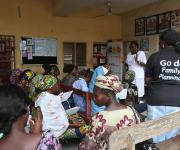 A service provider speaks to pregnant women during a ante natal clinic session at Adeoyo general hospital in Ibadan, South-west, Nigeria November 7, 2012.