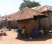 A view of  resident compound of a family planning user, Zainab Allassan in Jiwa village, outskirt of Nigeria's capital Abuja November 10, 2012.