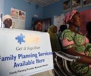 A pregnant woman, Blessing Eli attends ante natal clinic session at the primary health centre, Tundun Wada Kujama district in Nigeria's northern city of Kaduna, November  13, 2012.