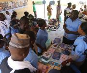 NURHI family planning mobilizers gather at Orolodo primary health centre before the start of a visibility parade in Omuaran township in Nigeria's central state of Kwara, November 5, 2012.