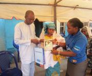 Couple presented with NURHI gift at Naming Ceremony at Ita-Amodu in Ilorin South
