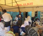 Social Mobilizer speaking about family planning at Naming Ceremony at Ita-Amodu in Ilorin South
